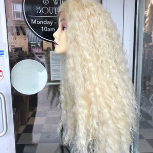 Accessories - Wig blonde 613 angelic long curly Freepart Wig New